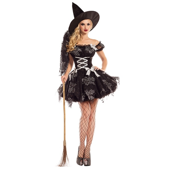 4c0145311fb Silver Sparkle Witch Costume, Hoty Silver Sparkle Witch Costume