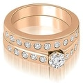 1.55 cttw. 14K Rose Gold Round Cut Diamond Bridal Set - Thumbnail 0