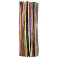 Creativity Street Jumbo Striped Pipe Cleaners, 1/4 x 12 Inches, Various Colors, Pack of 100