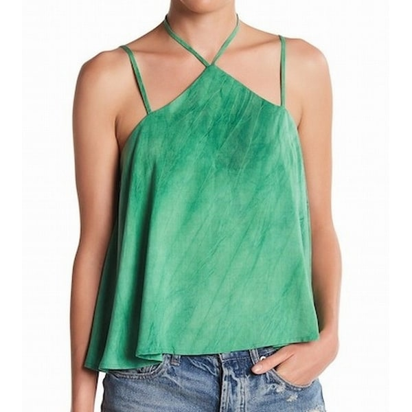 45af833499397d Shop CAD NEW Green Women s Size Medium M Halter Swing Knit Cami Tank Top -  Free Shipping On Orders Over  45 - Overstock - 21223757