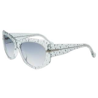 Balenciaga BA0034 84B Light Blue Bubble Wayfarer Sunglasses - light blue bubble - 58-17-140
