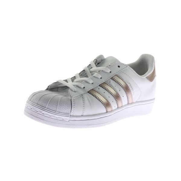 hot sale online 42292 f0705 adidas Originals Womens Superstar Fashion Sneakers Metallic Casual