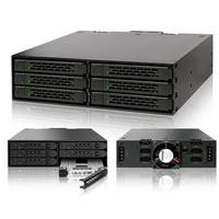 """Icy Dock Full Metal 6 X 2.5"""" Sata Hdd & Ssd Hotswap Backplane Cage Mobile Rack For 5.25"""" Drive Bay - Tougharmor Mb996sp-"""