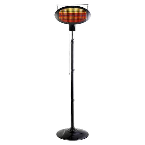 Optimus Garage-Outdoor Floor Standing Infrared Patio Heater w/ Remote