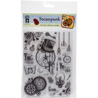 """Hot Off The Press Acrylic Stamps 6""""X8""""-Steampunk"""