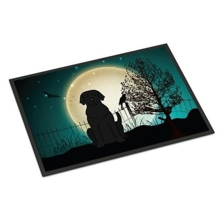 Carolines Treasures BB2247MAT Halloween Scary Black Labrador Indoor or Outdoor Mat 18 x 0.25 x 27 in.