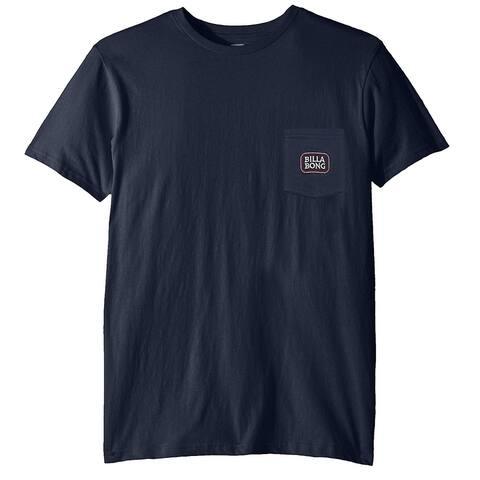 Billabong Mens T-Shirt Navy Blue Size Medium M Pocket Crewneck Short-Sleeve 112