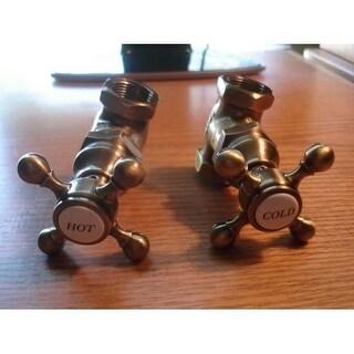 Newport Brass 3-192 Fairfield Set of 2 Shut-Off Valves with Cross Handles