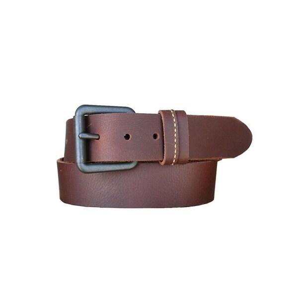 Lejon Western Belt Mens Ranchero Leather Bullet Brown