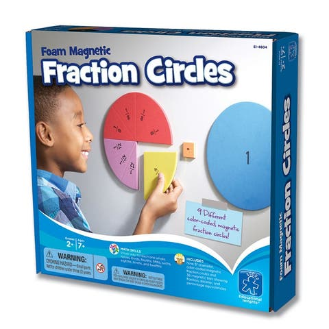 Educational insights foam magnetic fraction circles 4804