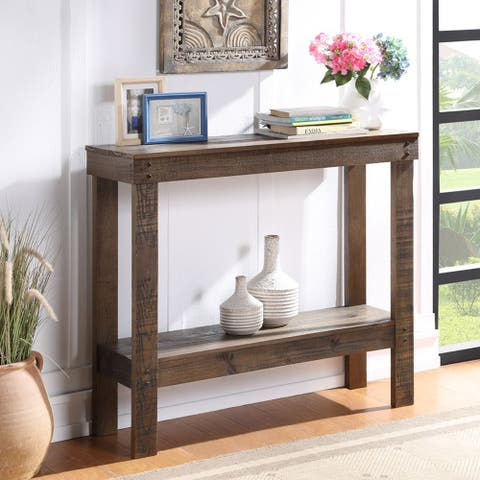 Merax Rustic Accent Entryway Table Console Table, 39 Inch