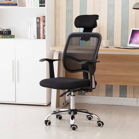 Zimtown Mesh Back Gas Lift Back Tilt Adjustable Office Swivel Chair - Adjustable Height: (39.76-45.67)""