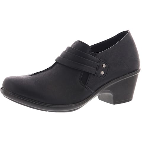 Easy Street Womens Graham Ankle Boots Faux Leather Comfort