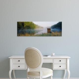 Easy Art Prints Panoramic Images's 'Hut in a lake, Lake Katherine, Ohio, USA' Premium Canvas Art