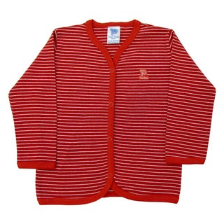 Baby Cardigan Unisex Infant Striped Sweater Pulla Bulla Sizes 0-18 Months (Option: red / 6-9 months - 6 - 9 Months)