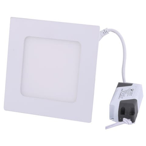 Warm White 6W Square Office Dimmable LED Recessed Ceiling Panel Light AC85-265V