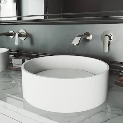 VIGO Anvil Matte Stone Vessel Bathroom Sink