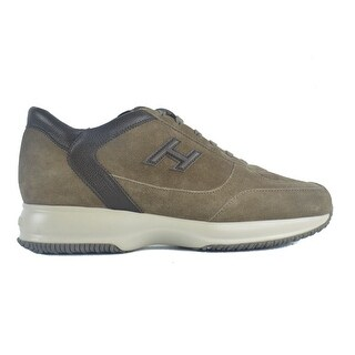 Hogan Mens Brown Suede Interactive Mod H 3D Sneakers