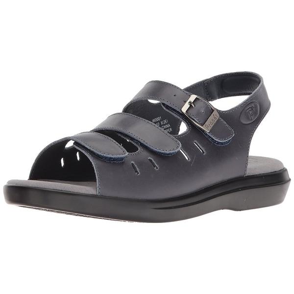 Propét Womens Breeze Walker W0001 Leather Open Toe Casual Slingback Sandals