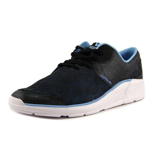 Supra Noiz Women Round Toe Leather Black Sneakers