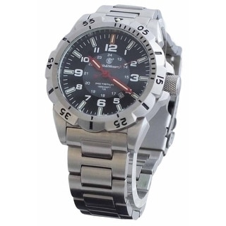 Smith & Wesson Emissary Watch Silver 44mm 10ATM SWISS TRITIUM - Black