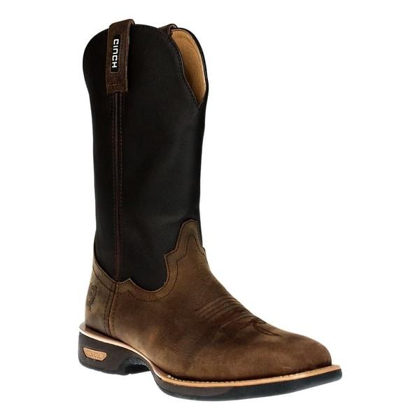 Cinch Work Boots Mens Journeyman Horseman Legend Ranch Hand Tan