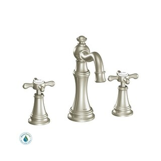 Moen TS42114 Double Handle Widespread Bathroom Faucet from the Weymouth Collection - Pop-Up Drain Included - n/a
