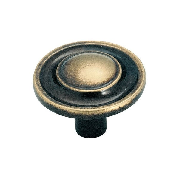 Amerock BP755 Allison Value Hardware 1-1/4 Inch Diameter Mushroom Cabinet Knob - ANTIQUE BRASS