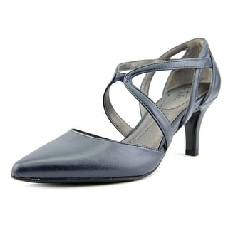 Life Stride Seamless Women Open Toe Leather Blue Sandals