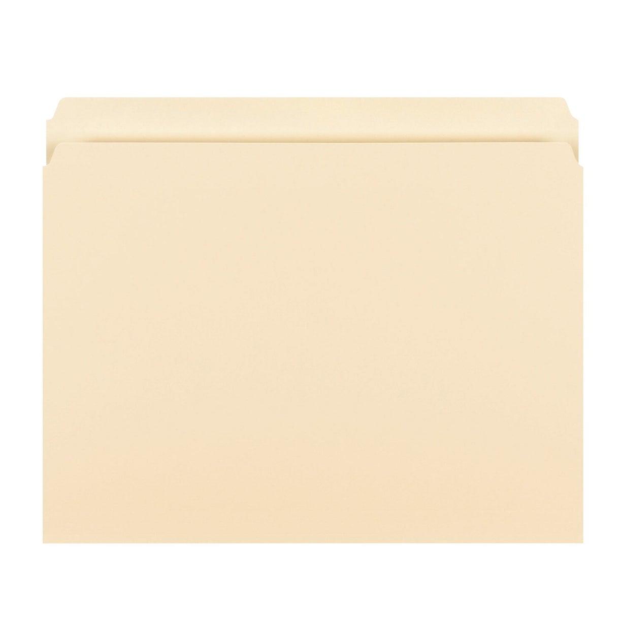 100 Pk Pendaflex File Folders Straight Cut Top Tab Letter Size Manila