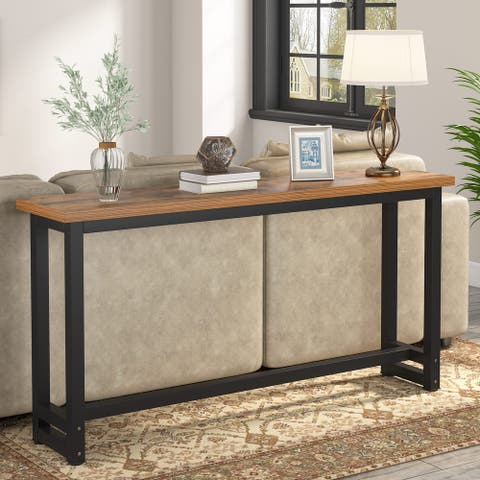 Long Sofa Table, 70.9 inch Behind Couch Table, Entry Console Table