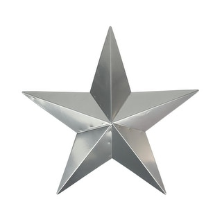 "15"" Silver Steel Country Rustic Star Indoor/Outdoor Wall Decoration"