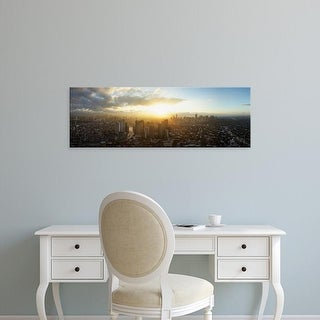 Easy Art Prints Panoramic Images's 'High angle view of cityscape during sunset, Manila, Philippines' Canvas Art
