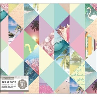 "K&Company Patterned Post Bound Album 12""X12""-Pastel Photo Collage"