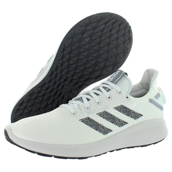 Adidas Mens Sensebounce Street Running Shoes Knit Track Footwear White Core Black Grey Heather Overstock 32166456 8 Medium D