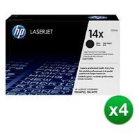 HP 14X High Yield Black LaserJet Toner Cartridge (CF214X)(4-Pack)