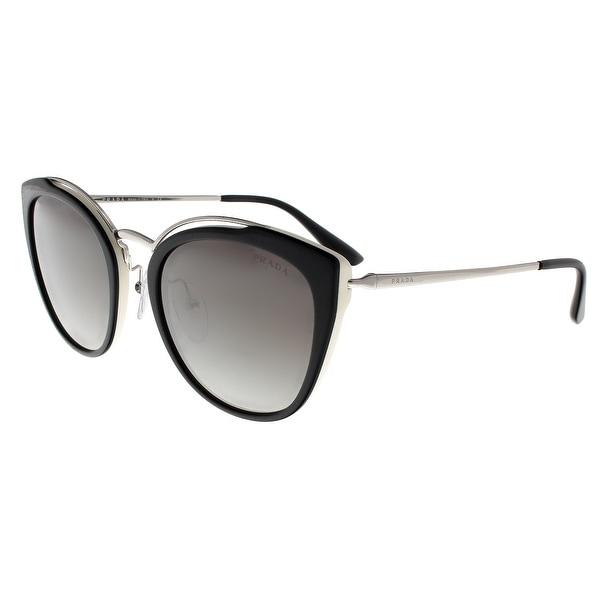 53174ff50d Prada PR20US 4BK5O0 CONCEPTUAL Silver Black Ivory Square Sunglasses - 54-22-