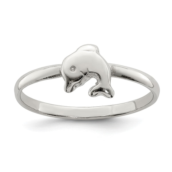 Sterling Silver Rhodium-plated Child's Polished Ring by Versil. Opens flyout.