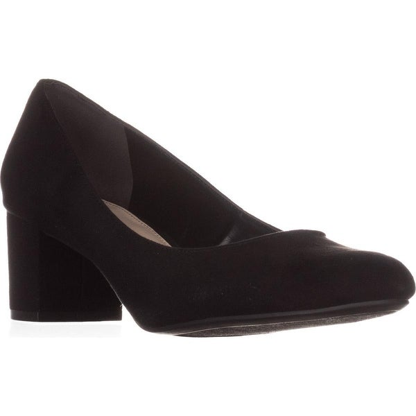 B35 Petunia Block-Heel Pumps, Black - 9.5 us