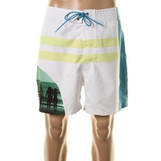 Nautica Mens Quick Dry Colorblock Board Shorts
