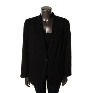 Calvin Klein Womens Plus Peak Collar Long Sleeves One-Button Blazer - 18W