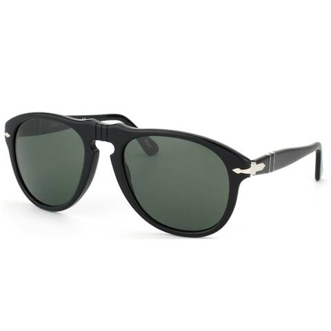 Persol 649 Original PO 649 95/31 Unisex Black Frame Green Lens Sunglasses