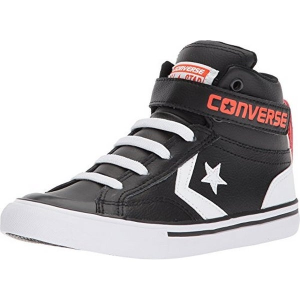 Converse Unisex Pro Blaze Strap Hi-Top, Black/White/Bright Poppy