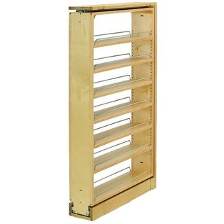 """Rev-A-Shelf 432-TF45-6C 432 Series 6"""" Wide by 45"""" Tall Upper Cabinet Filler Organizer with Five Adjustable Shelves"""