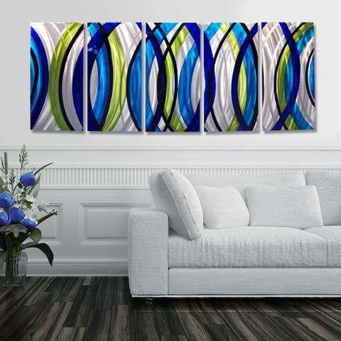 Statements2000 3D Metal Wall Art Panels Modern Abstract Modern Painting Decor by Jon Allen - Sonic Boom