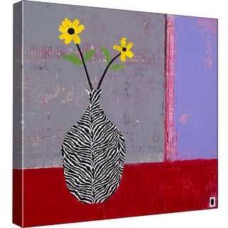 """PTM Images 9-98760  PTM Canvas Collection 12"""" x 12"""" - """"Yellow Daisy II"""" Giclee Flowers Art Print on Canvas"""