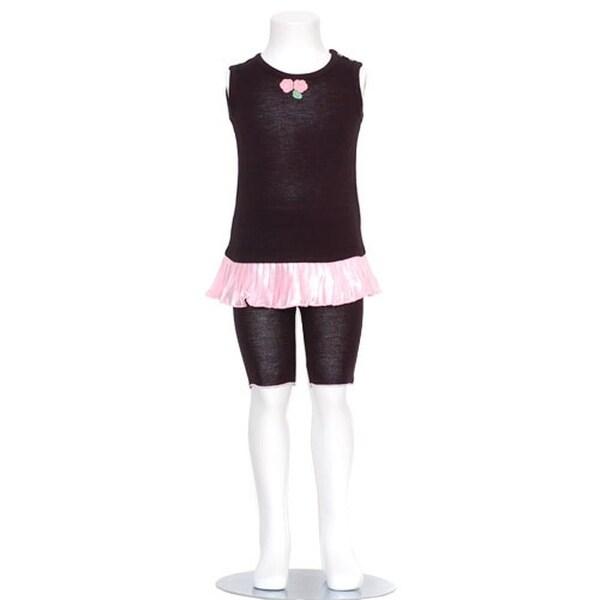 Ashley Morgan Newborn Baby Toddler Girls Black Leggings Outfit 3M-4T