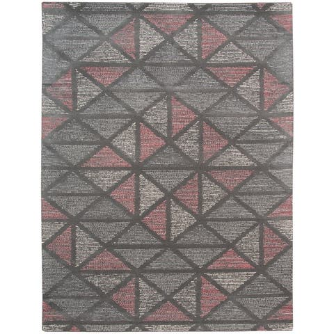 Waverly Modern Geometric Hand-Tufted Wool Area Rug