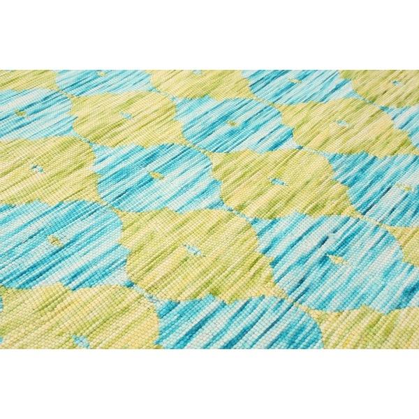 Ecarpetgallery Handmade Collage Light Blue Light Green Chenille Rug 3 10 X 5 11 Overstock 32488726