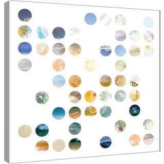 "PTM Images 9-101118  PTM Canvas Collection 12"" x 12"" - ""Circle Grid A"" Giclee Abstract Art Print on Canvas"